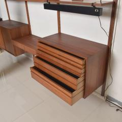 Poul Cadovius Poul Cadovius CADO Royal System Wall Unit in Teak Mid Century Danish Modern - 1555365