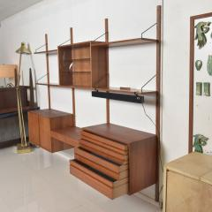 Poul Cadovius Poul Cadovius CADO Royal System Wall Unit in Teak Mid Century Danish Modern - 1555366