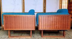 Poul Cadovius Poul Cadovius Lounge Chairs Basket Weave Pair 1962 - 2067558