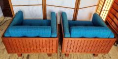 Poul Cadovius Poul Cadovius Lounge Chairs Basket Weave Pair 1962 - 2067559