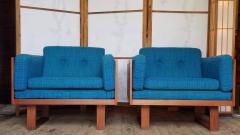 Poul Cadovius Poul Cadovius Lounge Chairs Basket Weave Pair 1962 - 2067561
