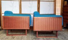 Poul Cadovius Poul Cadovius Lounge Chairs Basket Weave Pair 1962 - 2067562