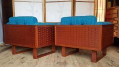 Poul Cadovius Poul Cadovius Lounge Chairs Basket Weave Pair 1962 - 2067564
