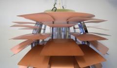 Poul Henningsen The Artichoke pendant lamp Top shade in white metal - 1339333