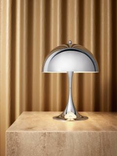 Poul Henningsen Verner Panton Panthella Mini Table Lamp in Chrome for Louis Poulsen - 537119