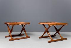 Poul Hundevad Pair of Folding Stools by Poul Hundevad 1950s - 1879160