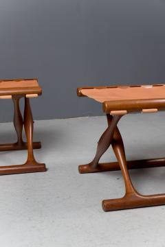 Poul Hundevad Pair of Folding Stools by Poul Hundevad 1950s - 1879169