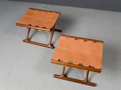 Poul Hundevad Pair of Folding Stools by Poul Hundevad 1950s - 1879174