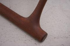 Poul Hundevad Signed Guldhoj Teak and Leather Folding Stool by Poul Hundevad for Vamdrup - 542865