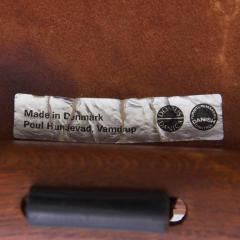 Poul Hundevad Signed Guldhoj Teak and Leather Folding Stool by Poul Hundevad for Vamdrup - 542866
