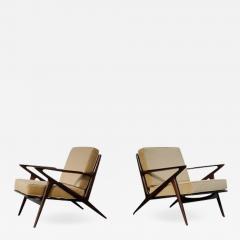 Poul Jensen Pair of Poul Jensen Z Lounge Chairs for Selig Denmark - 1596774