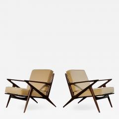 Poul Jensen Pair of Poul Jensen Z Lounge Chairs for Selig Denmark - 1639066