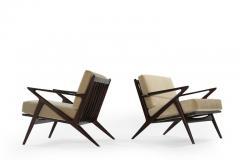 Poul Jensen Poul Jensen for Selig Z Lounge Chairs Denmark c 1950s - 1701429