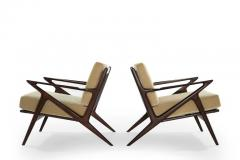 Poul Jensen Poul Jensen for Selig Z Lounge Chairs Denmark c 1950s - 1701430