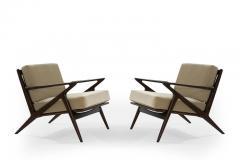 Poul Jensen Poul Jensen for Selig Z Lounge Chairs Denmark c 1950s - 1701431