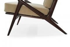 Poul Jensen Poul Jensen for Selig Z Lounge Chairs Denmark c 1950s - 1701435