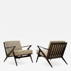 Poul Jensen Poul Jensen for Selig Z Lounge Chairs Denmark c 1950s - 1703307