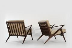 Poul Jensen Poul Jensen for Selig Z Lounge Chairs Denmark circa 1950s - 2066017