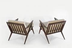 Poul Jensen Poul Jensen for Selig Z Lounge Chairs Denmark circa 1950s - 2066018