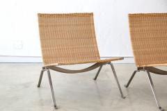 Poul Kj rholm Pair of PK 22 Poul Kjaerholm Danish Mid Century Modern Wicker Lounge Chairs - 727890