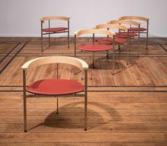 Poul Kj rholm Poul Kjaerholm Set of Six Chairs Model PK11 - 883065