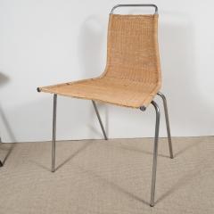 Poul Kj rholm Set of Four Poul Kjaerholm E Kold Christiansen PK1 Wicker Chairs - 201994