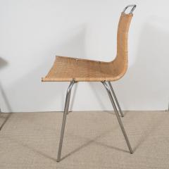 Poul Kj rholm Set of Four Poul Kjaerholm E Kold Christiansen PK1 Wicker Chairs - 201998