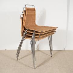 Poul Kj rholm Set of Four Poul Kjaerholm E Kold Christiansen PK1 Wicker Chairs - 202001