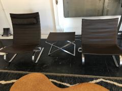 Poul Kjaerholm Kj rholm Set of PK20 Chairs and PK91 Footstool by Poul Kjaerholm - 1679250