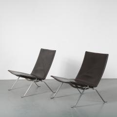 Poul Kjaerholm Pair of PK22 Lounge Chairs by Poul Kjaerholm for Fritz Hansen Denmark 1960 - 1409068