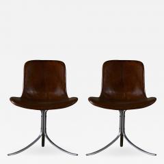 Poul Kjaerholm Pair of Poul Kjaerholm PK9 Chairs - 183772