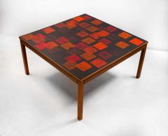 Poul Torneman Nordiska Kompaniet Teak Coffee Table with Enamel Top by Poul Torneman - 1388382