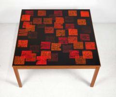 Poul Torneman Nordiska Kompaniet Teak Coffee Table with Enamel Top by Poul Torneman - 1388384