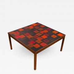 Poul Torneman Nordiska Kompaniet Teak Coffee Table with Enamel Top by Poul Torneman - 1388523