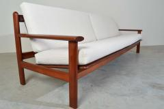 Poul Volther Poul Volther Danish Modern Sculptural Teak Sofa in Italian Boucle - 1930559