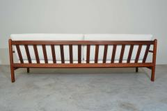 Poul Volther Poul Volther Danish Modern Sculptural Teak Sofa in Italian Boucle - 1930560