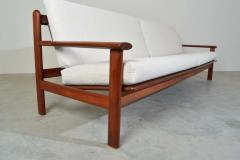 Poul Volther Poul Volther Danish Modern Sculptural Teak Sofa in Italian Boucle - 1930562
