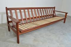 Poul Volther Poul Volther Danish Modern Sculptural Teak Sofa in Italian Boucle - 1930564