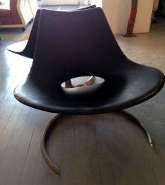 Preben Fabricius Pair of Rare Danish Scimitar Lounge Chairs - 109689