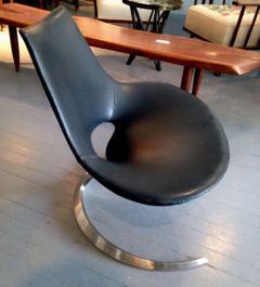 Preben Fabricius Pair of Rare Danish Scimitar Lounge Chairs - 109690