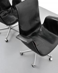 Preben Fabricius Preben Fabricius J rgen Kastholm Leather Bird Chairs Set of Eight - 35037