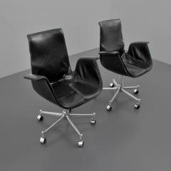 Preben Fabricius Preben Fabricius J rgen Kastholm Leather Bird Chairs Set of Eight - 35279