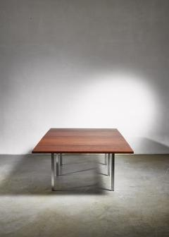 Preben Fabricius Rare Wenge and Stainless Steel Table by Preben Fabricius 1970s - 952413