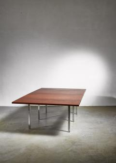 Preben Fabricius Rare Wenge and Stainless Steel Table by Preben Fabricius 1970s - 1065306