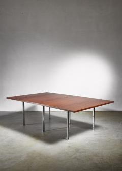 Preben Fabricius Rare Wenge and Stainless Steel Table by Preben Fabricius 1970s - 1065308