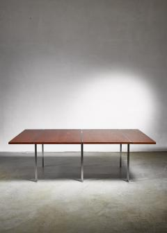 Preben Fabricius Rare Wenge and Stainless Steel Table by Preben Fabricius 1970s - 1114826