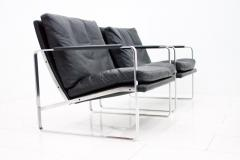 Preben Fabricius Set of Four Preben Fabricius Lounge Chairs in Black Leather by Walter Knoll 1972 - 456411