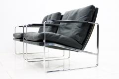 Preben Fabricius Set of Four Preben Fabricius Lounge Chairs in Black Leather by Walter Knoll 1972 - 456412