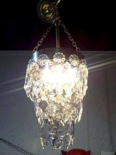 Precious Pair of Louis XV Style French Bronze and Crystal Pendant Lights - 99166