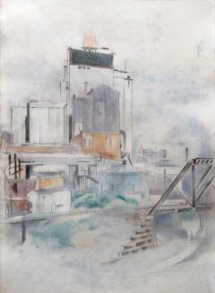 Preston Dickinson Grain Elevator Omaha Nebraska 1924 - 35577